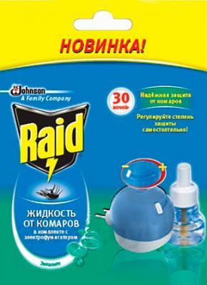 Электрофумигатор Raid От комаров 30 ночей Эвкалипт (21.9мл) - общий вид