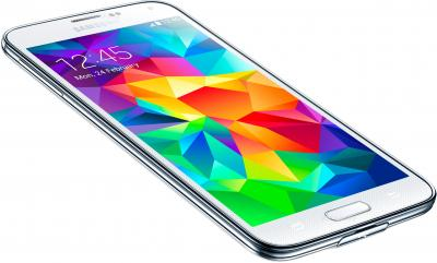 Смартфон Samsung Galaxy S5 G900H (16GB, White) - вид лежа
