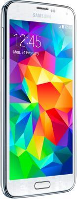 Смартфон Samsung Galaxy S5 G900H (16GB, White) - полубоком