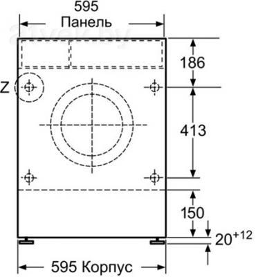 Стирально-сушильная машина Bosch WKD28540OE - схема