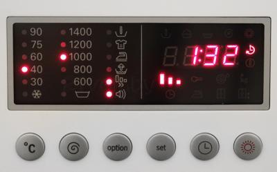 Стирально-сушильная машина Bosch WKD28540OE - панель управления