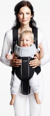 Сумка-кенгуру BabyBjorn Miracle Mesh 0960.04 (серебро) - ребенок лицом вперед (рюкзак цвет Black-Silver)