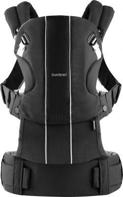 Сумка-кенгуру BabyBjorn Comfort Organic 0950.37 (черный) - общий вид