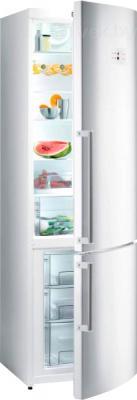 Холодильник с морозильником Gorenje NRK6201MW - общий вид