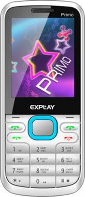 Мобильный телефон Explay Primo 2.4 (White-Blue) - общий вид