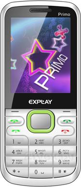 Мобильный телефон Explay Primo 2.4 (White-Green) - общий вид