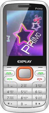 Мобильный телефон Explay Primo 2.4 (White-Orange) - общий вид