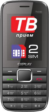 Мобильный телефон Explay TV240 (Black) - общий вид