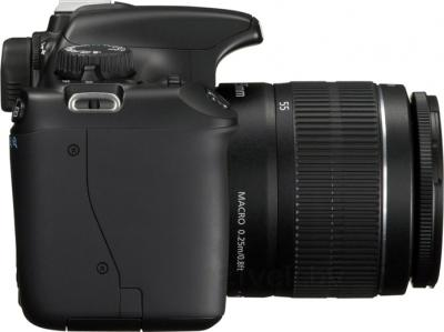 Зеркальный фотоаппарат Canon EOS 1100D Kit 18-55mm + 75-300mm - вид сбоку