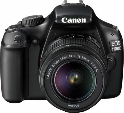 Зеркальный фотоаппарат Canon EOS 1100D Kit 18-55mm + 75-300mm - вид спереди
