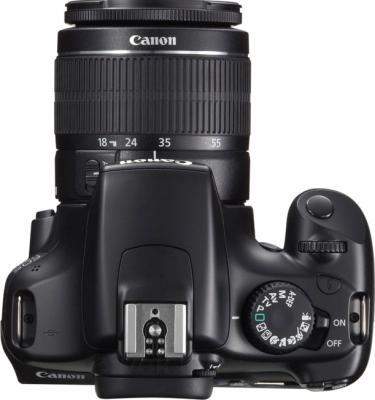 Зеркальный фотоаппарат Canon EOS 1100D Kit 18-55mm + 75-300mm - вид сверху