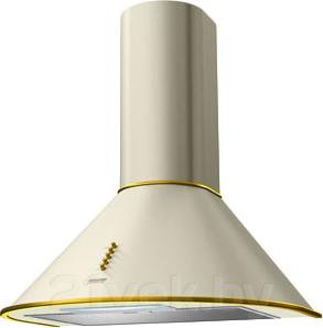 Вытяжка купольная KRONAsteel Diana 60 (слоновая кость/золотой, кнопки) - общий вид