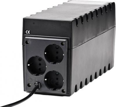 ИБП Powercom Raptor RPT-600A Euro - вид сзади