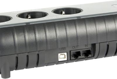 ИБП Powercom WOW-700U - входные разъемы
