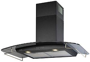 Вытяжка купольная KRONAsteel SCARLETT 900 5P (Black-Dark Glass-Gold) - общий вид