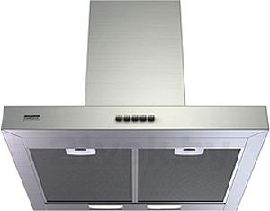 Вытяжка Т-образная KRONAsteel Paola 600 Inox Push Button - вид снизу