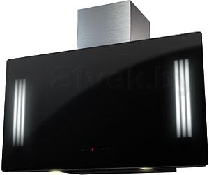 Вытяжка декоративная KRONAsteel Naomi Silent Mirror 90 5P-S (черный) - общий вид