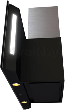 Вытяжка декоративная KRONAsteel Naomi Silent Mirror 90 5P-S (черный) - вид сбоку