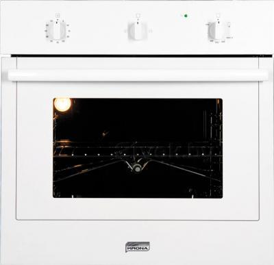 Газовый духовой шкаф KRONAsteel  IGG 1634 EG (White) - общий вид