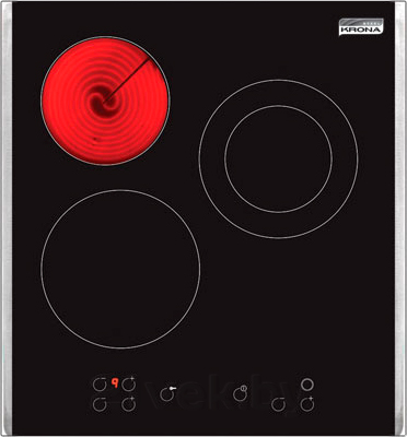 Электрическая варочная панель KRONAsteel IEC 2413 T (Inox) - общий вид