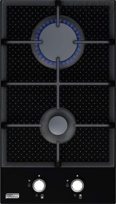 Газовая варочная панель KRONAsteel IGG (C) 2302 SEG (Black-Inox) - общий вид