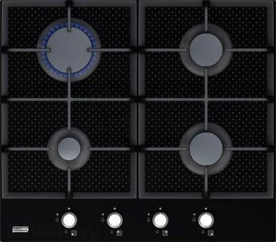 Газовая варочная панель KRONAsteel IGG (C) 2604 SEG (Black-Inox) - общий вид