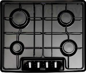 Газовая варочная панель KRONAsteel IGM 2604 E (Black-Inox) - общий вид