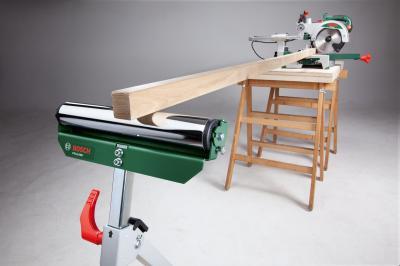 Роликовая подставка Bosch PTA 1000 (0.603.B05.100) - в работе