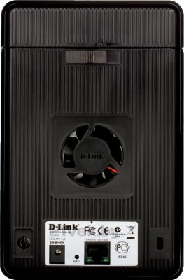 Сетевой накопитель D-Link DNR-326 - вид сзади