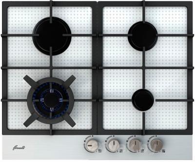 Газовая варочная панель Fornelli PG 60 PERFEZIONE WH/IX - общий вид