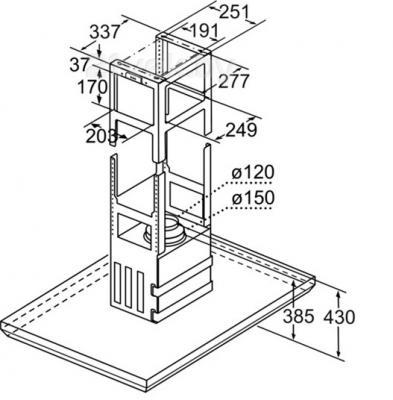 Вытяжка Т-образная Bosch DIB091U52 - схема