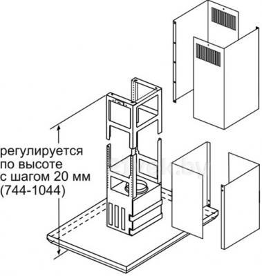 Вытяжка Т-образная Bosch DIB091U52 - схема регулировки по высоте