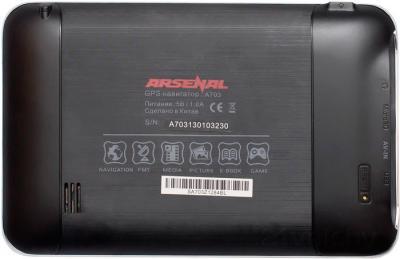 GPS навигатор Arsenal A703 - вид сзади