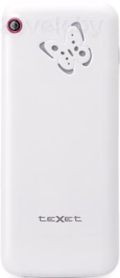 Мобильный телефон TeXet TM-D300 (бело-розовый) - задняя панель