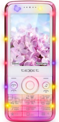 Мобильный телефон TeXet TM-D300 (бело-розовый) - общий вид