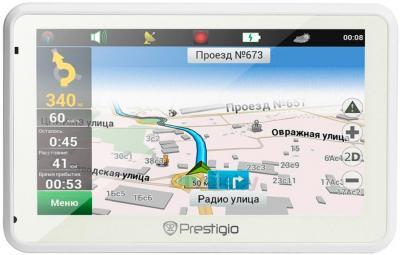 GPS навигатор Prestigio GeoVision 5166 (PGPS5166CIS04GBWNV) - фронтальный вид