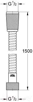 Душевой шланг GROHE Relexaflex 28151000