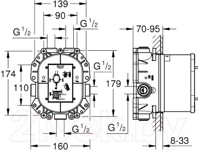 Встроенный механизм смесителя GROHE Grohe Rapido T 35500000