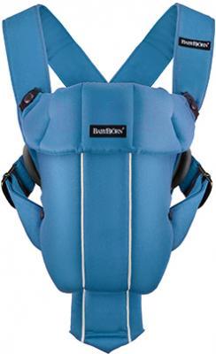 Сумка-кенгуру BabyBjorn Original Cotton 0230.79 (светло-голубой) - общий вид