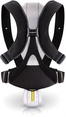 Эрго-рюкзак BabyBjorn Miracle Cotton Mix 0960.53 (черно-лиловый) - вид сзади (цвет Black-Silver)