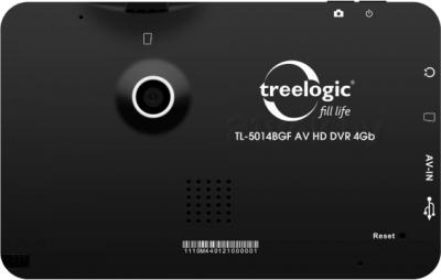 GPS навигатор Treelogic TL-5014BGF AV HD DVR 4GB - вид сзади
