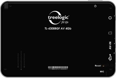 GPS навигатор Treelogic TL-501 4Gb - вид сзади