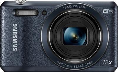 Компактный фотоаппарат Samsung WB35F (EC-WB35FZBPBRU, Black) - вид спереди
