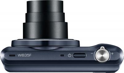 Компактный фотоаппарат Samsung WB35F (EC-WB35FZBPBRU, Black) - вид сверху