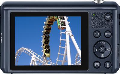 Компактный фотоаппарат Samsung WB35F (EC-WB35FZBPBRU, Black) - вид сзади
