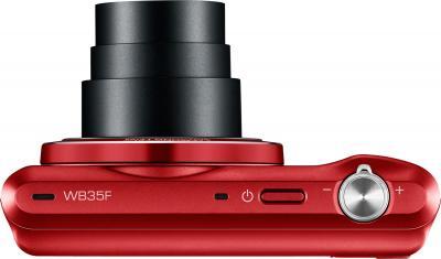 Компактный фотоаппарат Samsung WB35F (EC-WB35FZBPRRU, Red) - вид сверху
