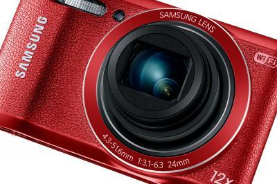 Компактный фотоаппарат Samsung WB35F (EC-WB35FZBPRRU, Red) - общий вид