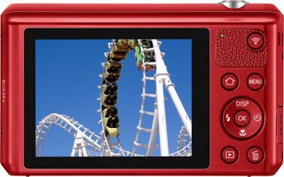 Компактный фотоаппарат Samsung WB35F (EC-WB35FZBPRRU, Red) - вид сзади