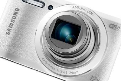 Компактный фотоаппарат Samsung WB35F (EC-WB35FZBPWRU, White) - общий вид