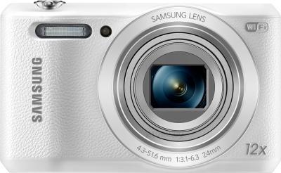 Компактный фотоаппарат Samsung WB35F (EC-WB35FZBPWRU, White) - вид спереди